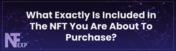 What Exactly Is Included In The NFT You Are About To Purchase?